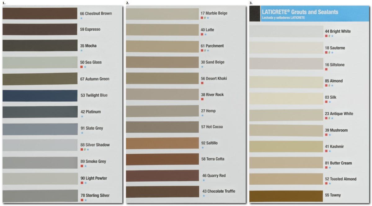Laticrete grout colour chart tile grout online