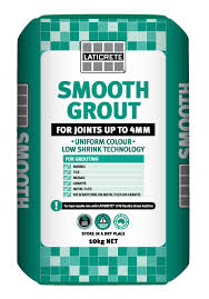 Laticrete smoth grout